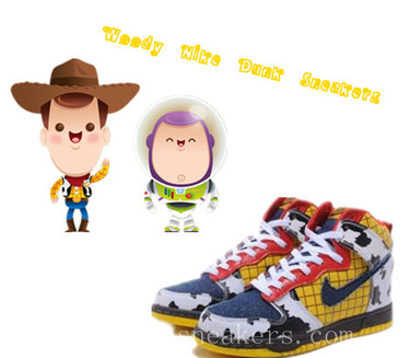brand new 630fb d5fd6 Cartoon Nike Dunk High Tops Woody Sneaker Yellow is designed by Woody.A  tradition typical cowboy dress. Then shoes are used yellow plaid and small  black and ...
